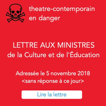 lettre au ministres de la Culture et de l'éducation