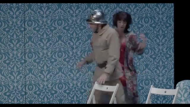 "Vidéo Ionesco, ""La Cantatrice chauve"", m.e.s Pierre Pradinas, extraits 2"