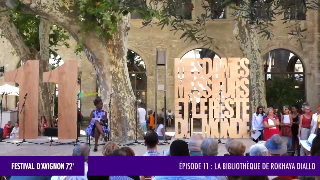 Vidéo Mesdames, Messieurs et le reste du monde (jour 11), La bibliothèque de R. Diallo