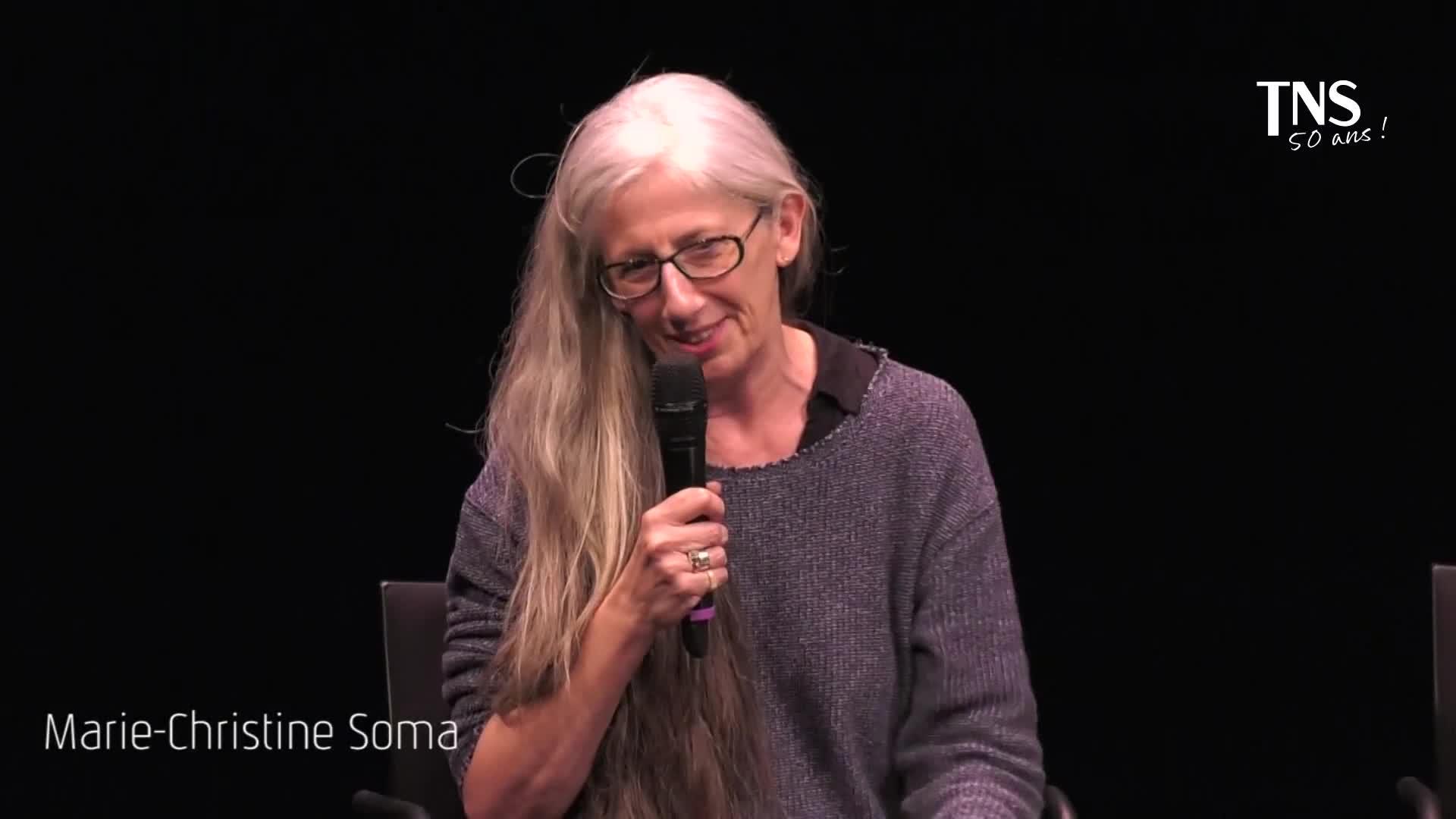 """Vidéo """"La Pomme dans le noir"""" - Présentation par Marie-Christine Soma"""
