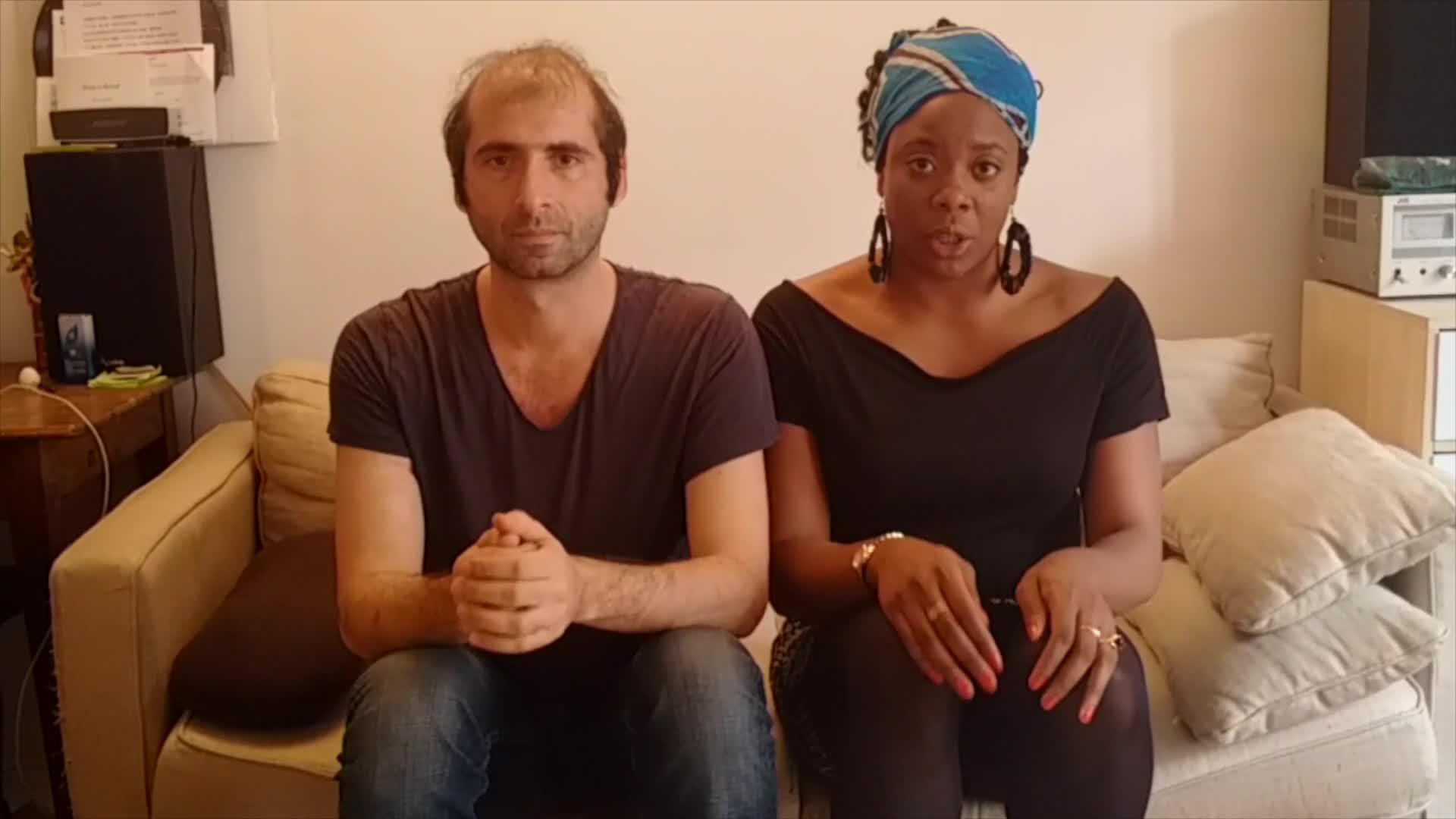 """Vidéo """"Portrait de Ludmilla en Nina Simone"""" - Ludmilla Dabo/David Lescot, répétition"""