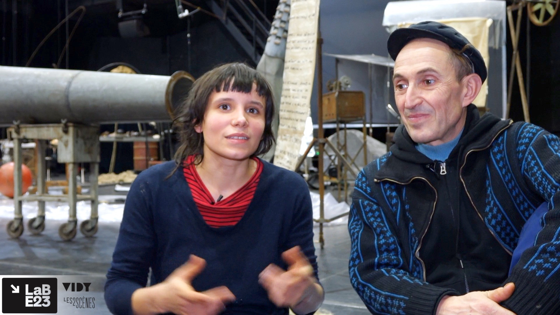 """Vidéo """"Volia Panic"""", entretien avec Alexis Forestier et Itto Mehdaoui - scénographie"""