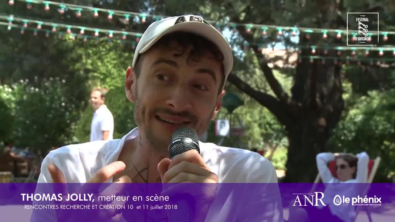 """Vidéo """"Thyeste"""", entretien avec Thomas Jolly / Rencontres Recherche et Création 2018"""