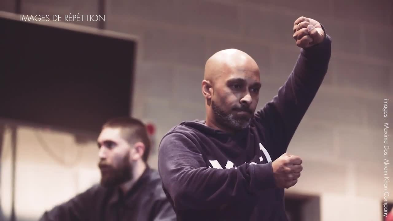 "Vidéo ""Outwitting the Devil"", répétition, Akram Khan Company trailer"