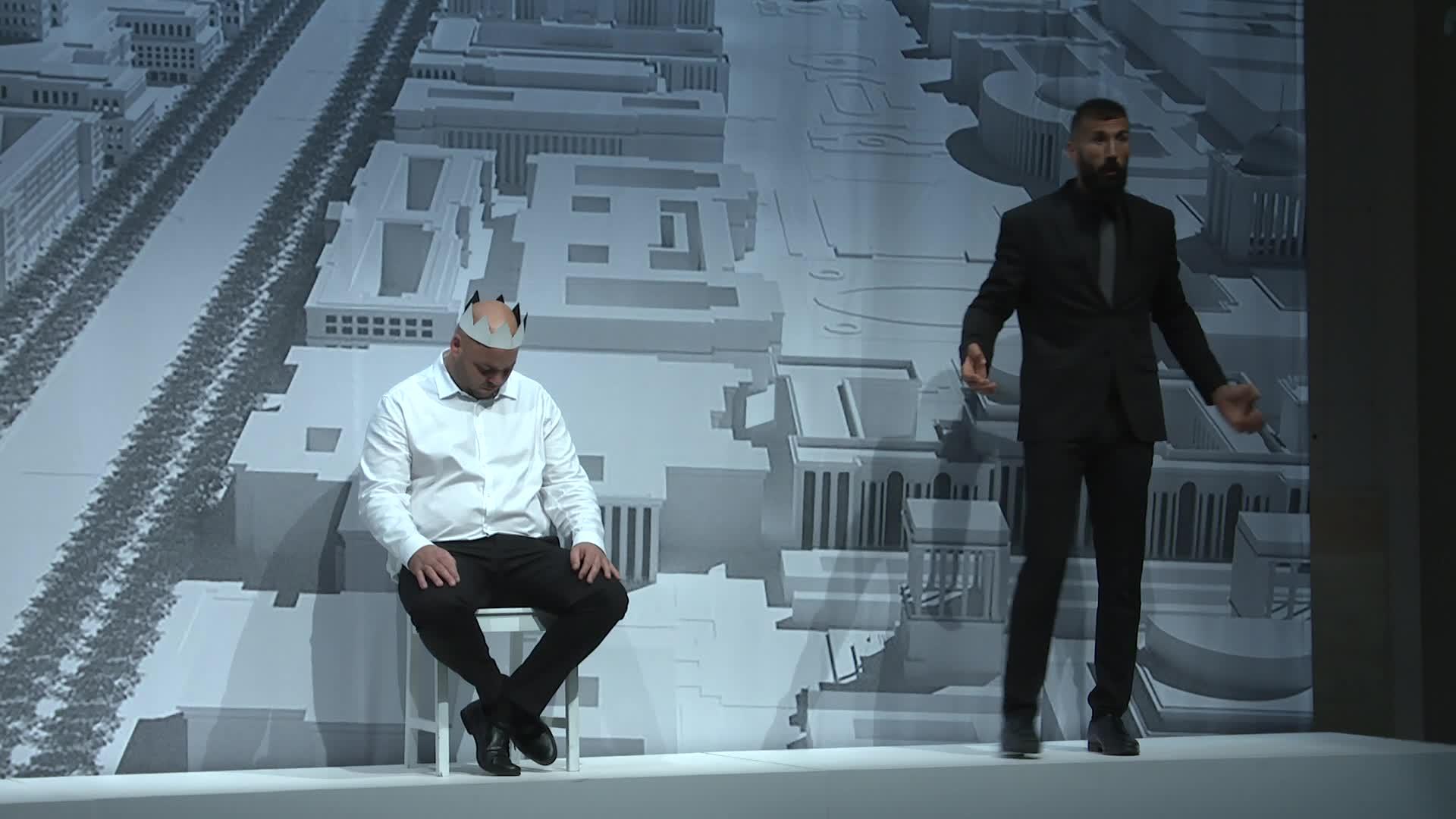 "Vidéo ""Macbeth philosophe"" - Olivier Py et Enzo Verdet - Extraits"