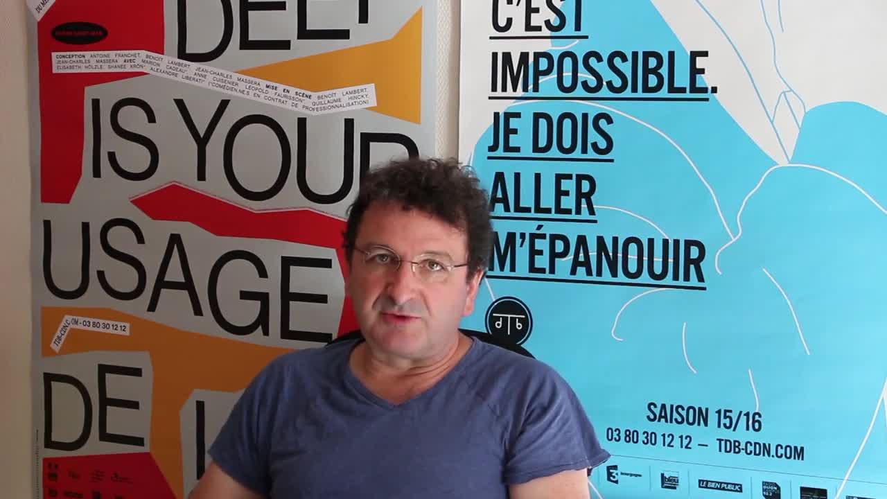 Image de la vidéo Jean-Charles Massera à propos du travail sur