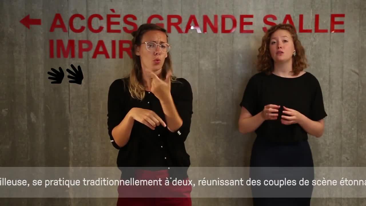 """Vidéo Présentation en LSF du spectacle """"Möbius""""'"""