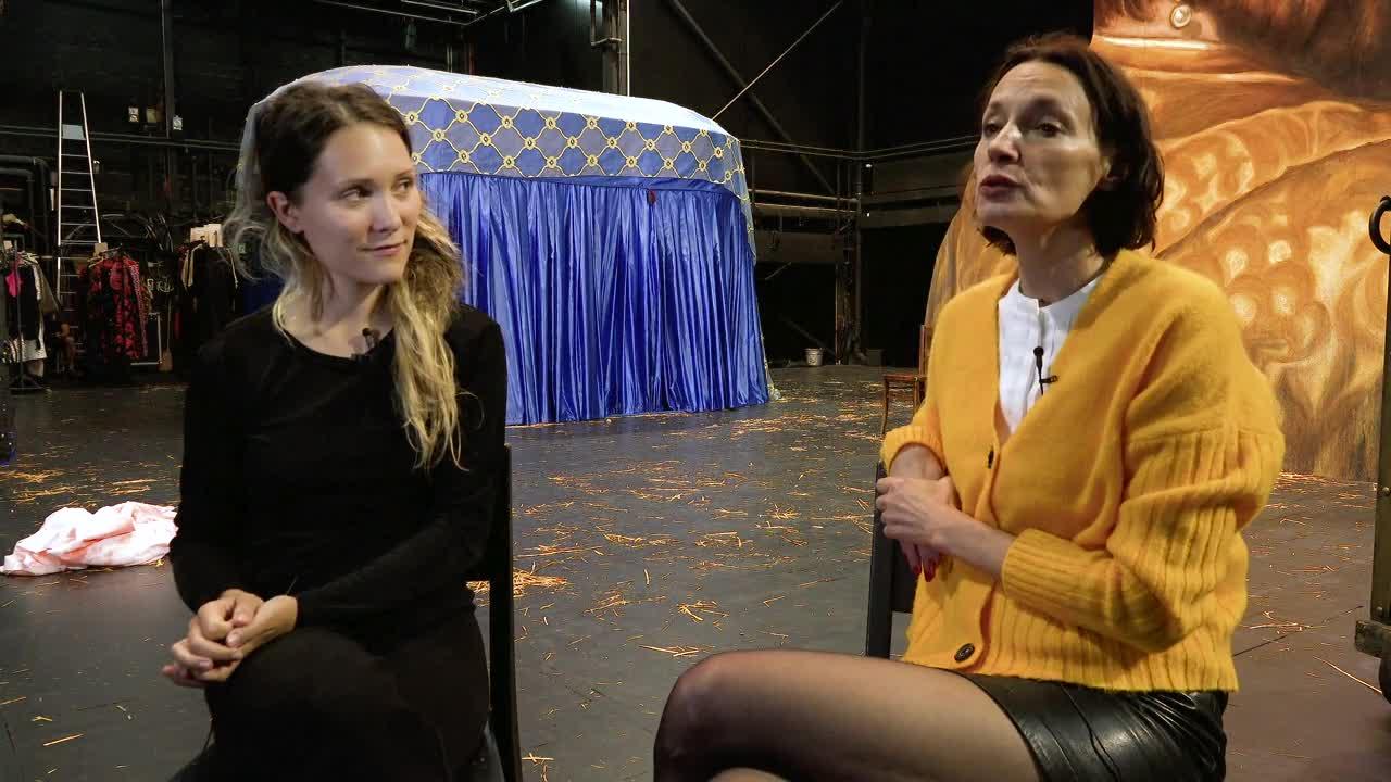 """Vidéo """"Bajazet"""" de Frank Castorf par Claire Sermonne et Jeanne Balibar #2"""