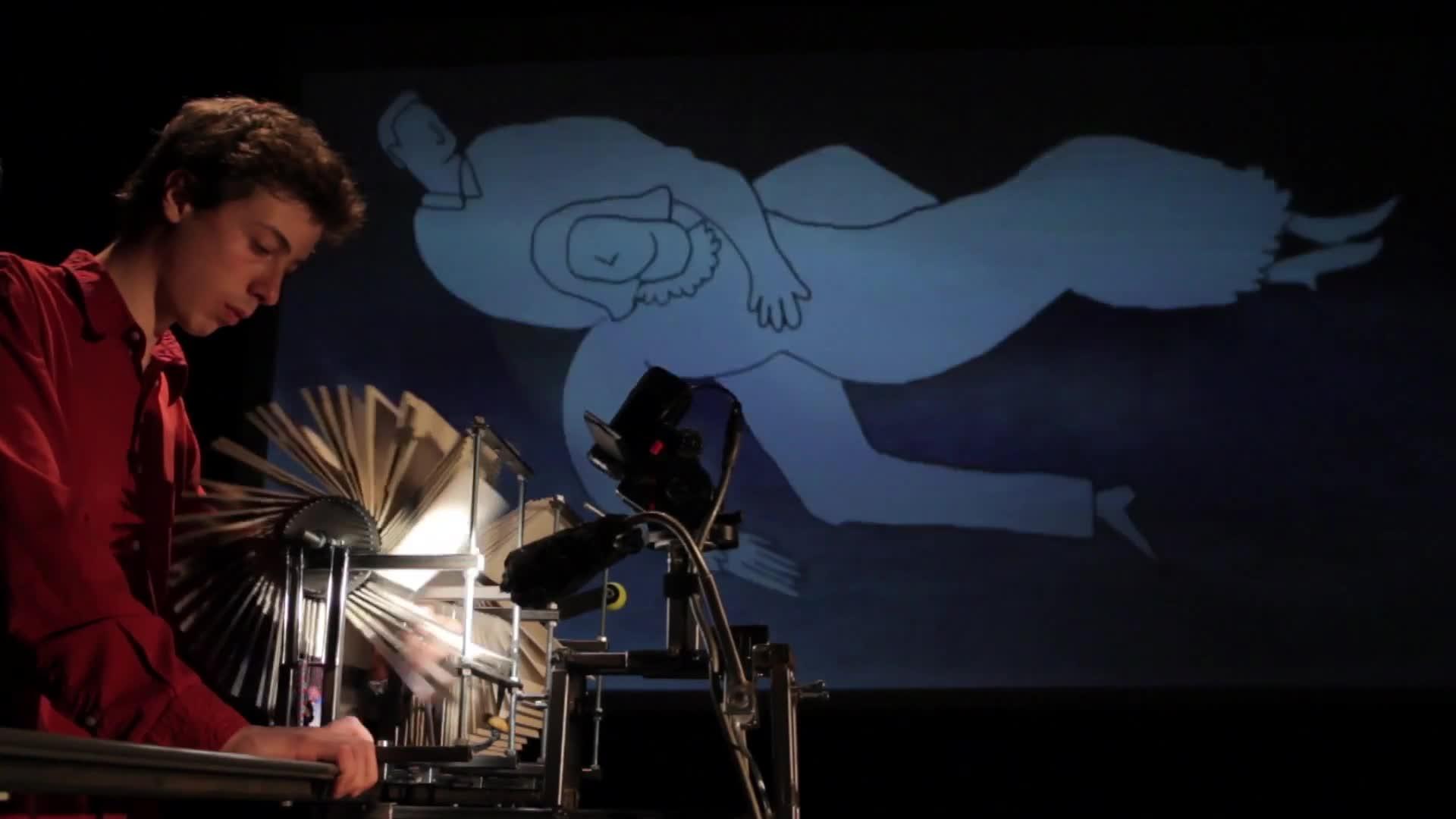 """Vidéo """"L'envol"""", présentation pat Léon et Bertrand Lenclos, premières images de la création"""