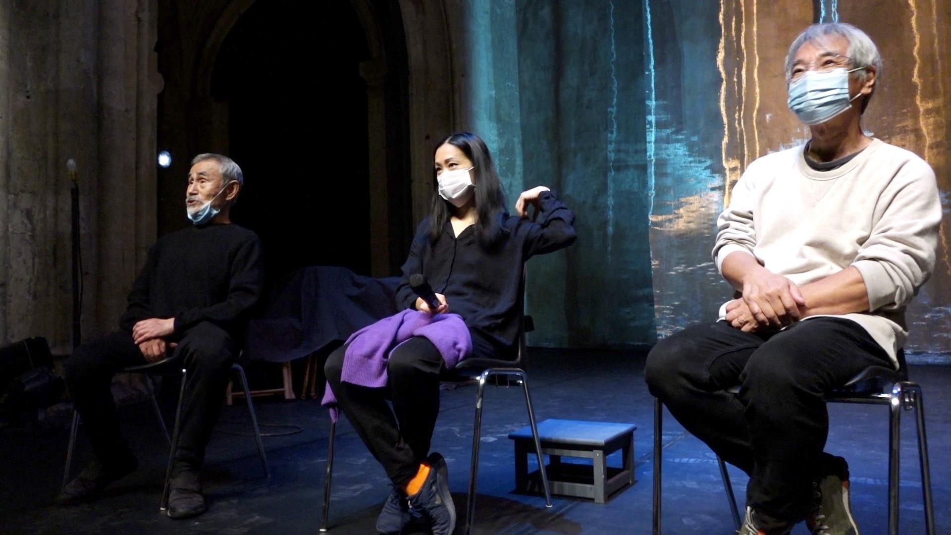 """Vidéo Bord de plateau """"Le Tambour de soie"""" avec Yoshi Oïda, Kaori Ito et Makoto Yabuki"""