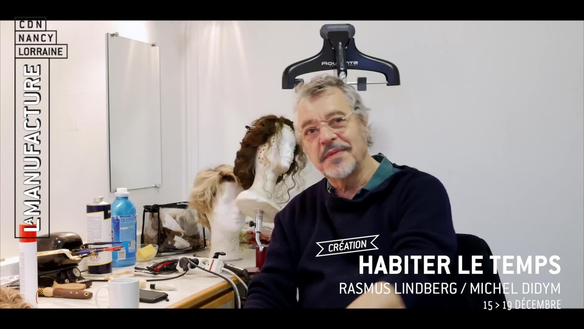 """Vidéo """"Habiter le temps"""" - Rasmus Lindberg/Michel Didym - Carnet de création #3"""