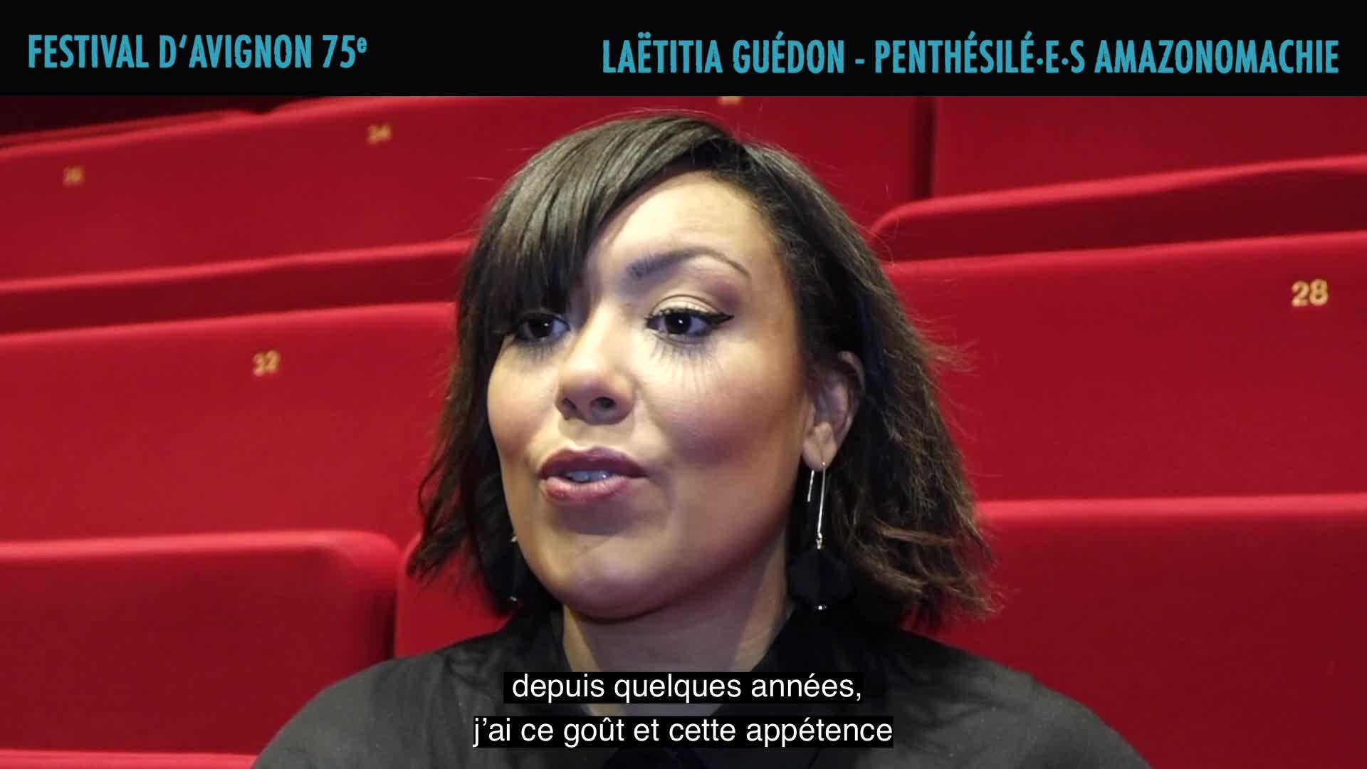 """Vidéo Laëtitia Guédon présente """"Penthésilé.e.s, Amazonomachie"""""""