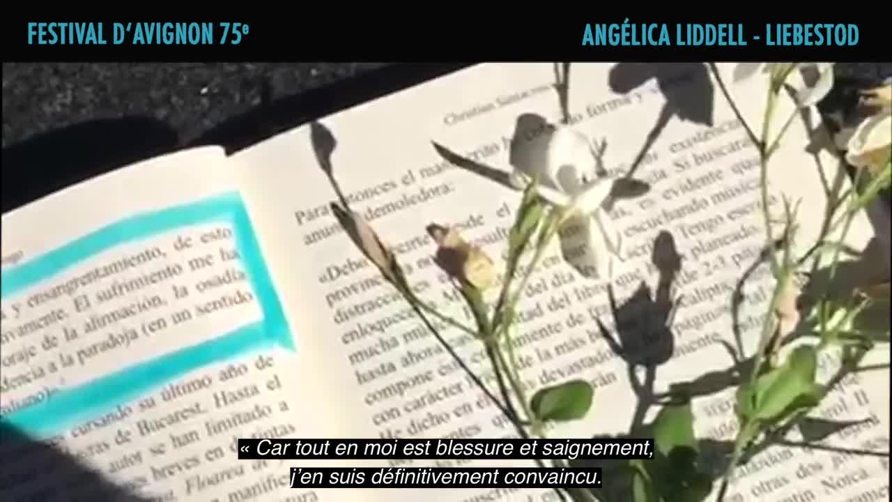 """Vidéo Angélica Liddell présente """"Liebestod, El olor a sangre no se me quita de los ojos, Juan Belmonte"""""""