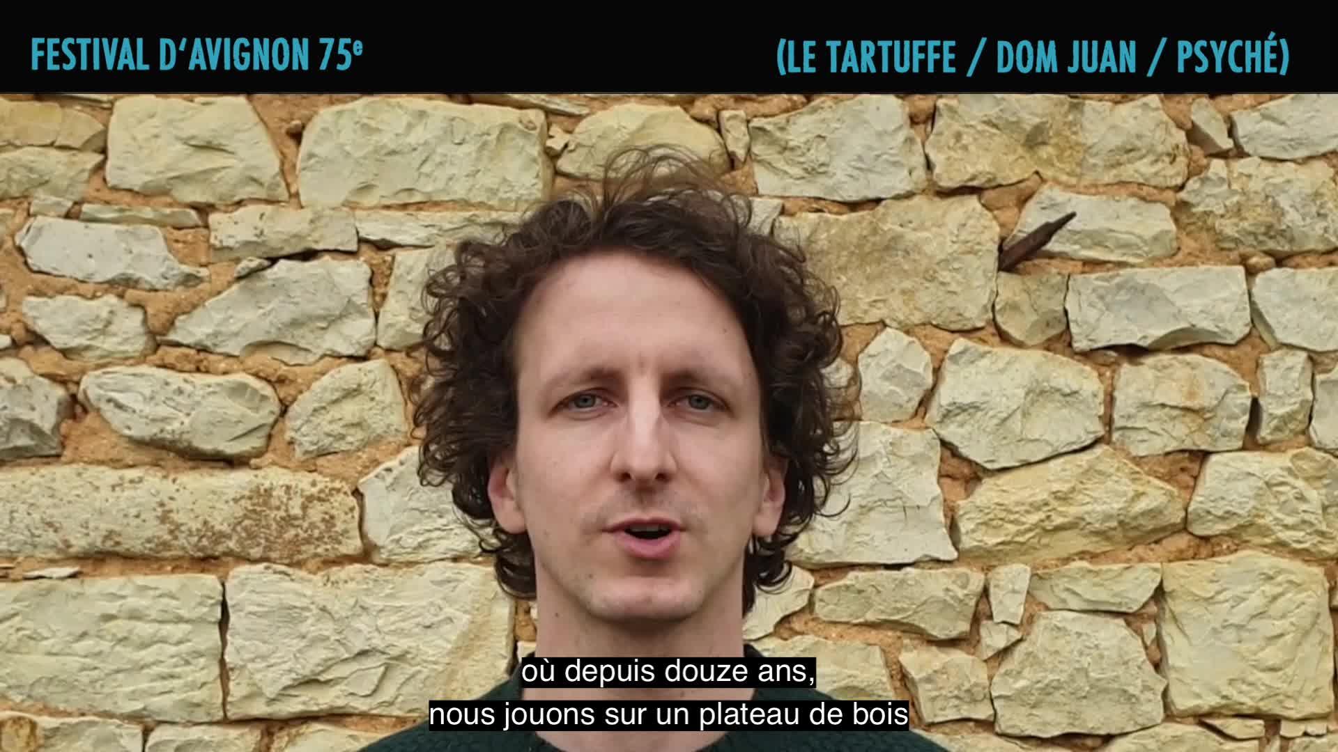 """Vidéo L'équipe du Nouveau Théâtre Populaire présente """"Le Ciel, la Nuit et la Fête (Le Tartuffe / Dom Juan / Psyché)"""""""