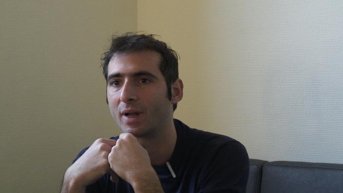 Image de la vidéo D. Lescot / L'appropriation du texte