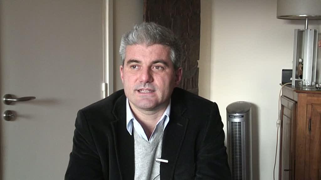 Image de la vidéo Laurent Gaudé / Le premier texte de théâtre