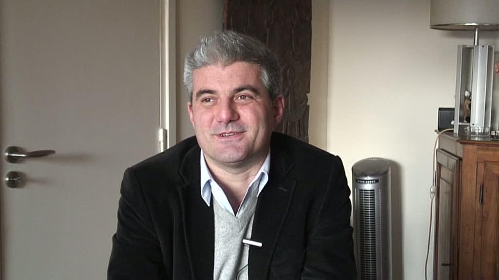 Image de la vidéo Laurent Gaudé / L'appropriation du texte