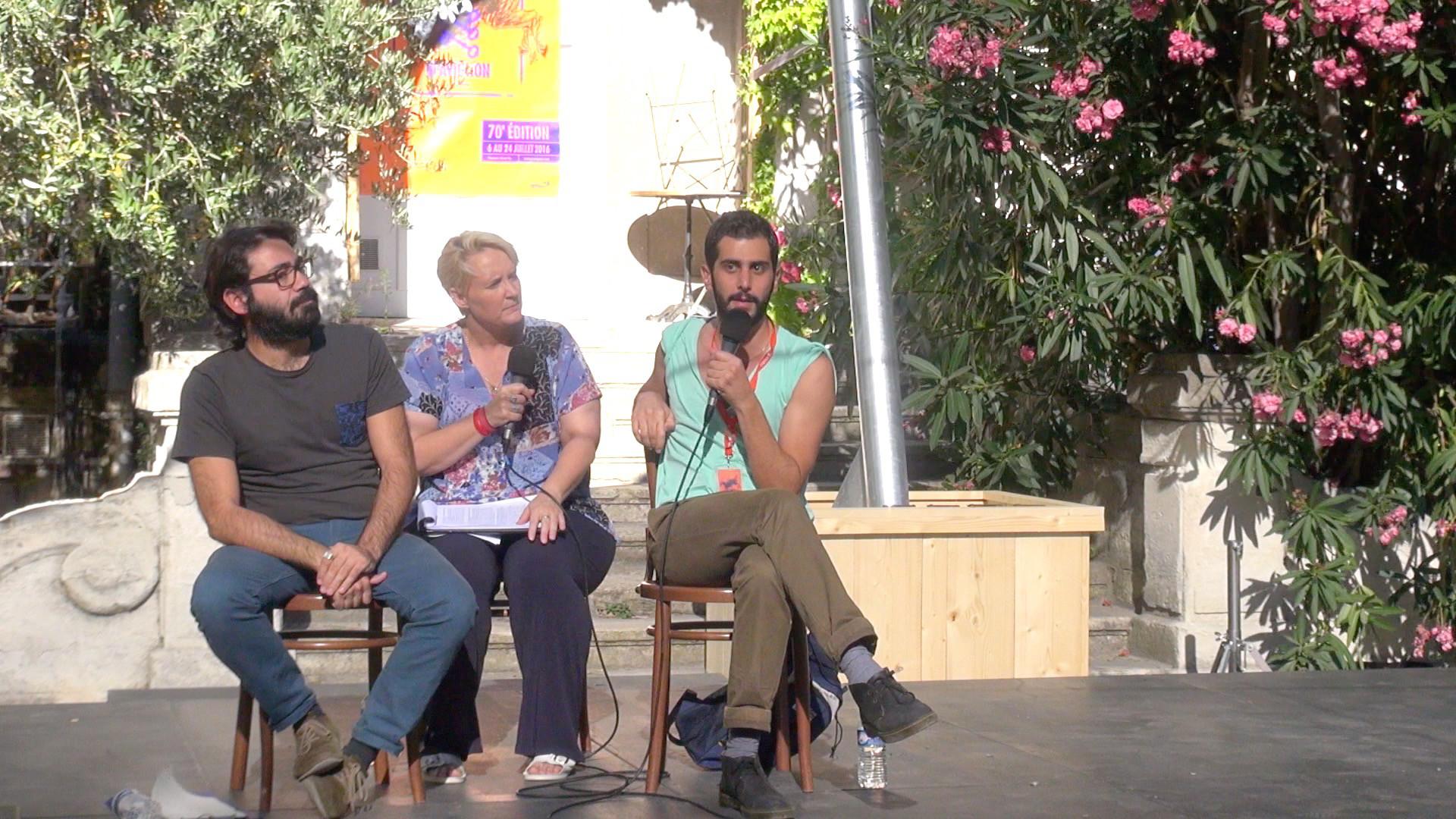 "Vidéo ""Fatmeh"", dialogue artistes-spectateurs"
