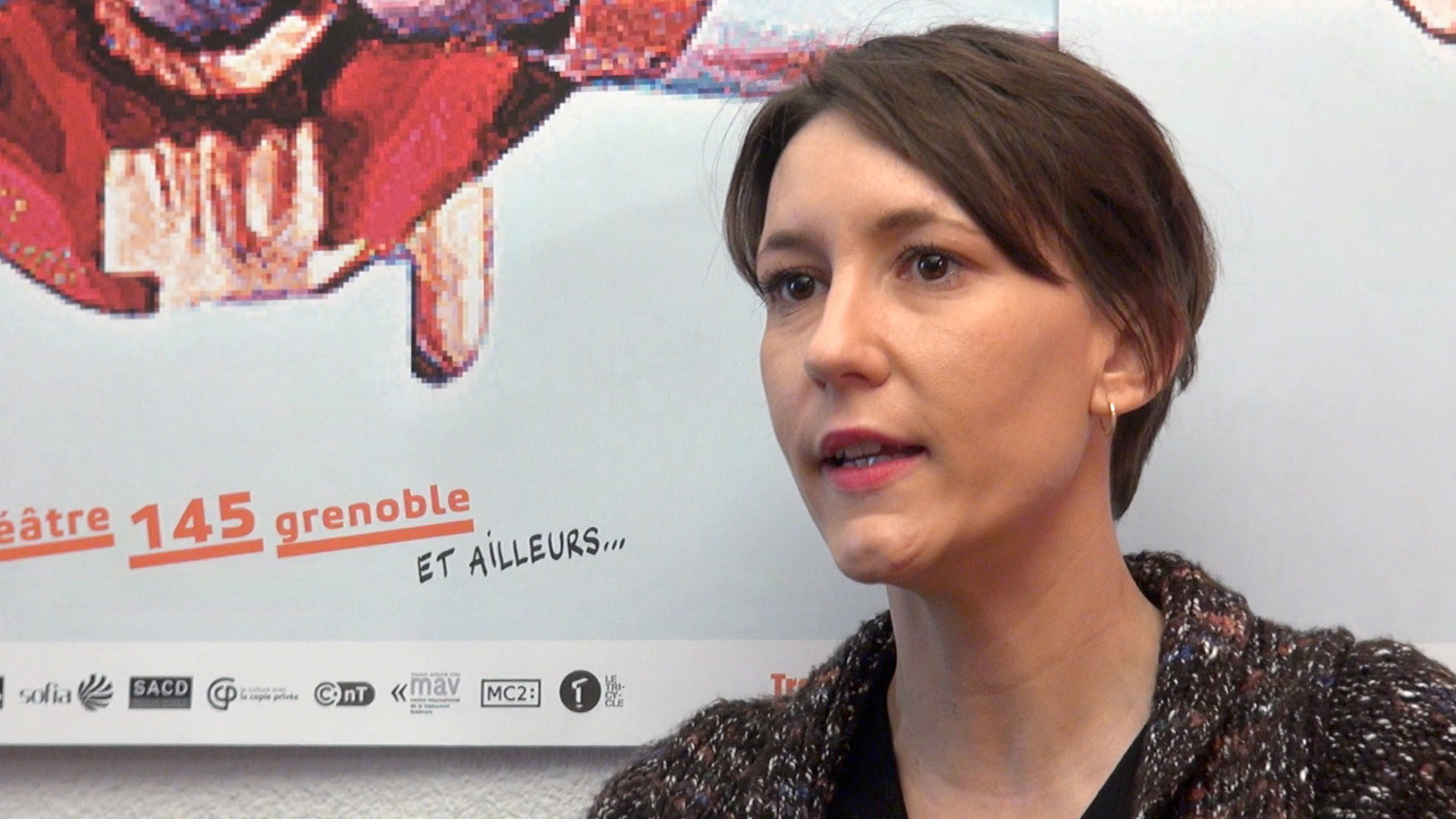 Image de la vidéo Julie Aminthe / L'appropriation du texte