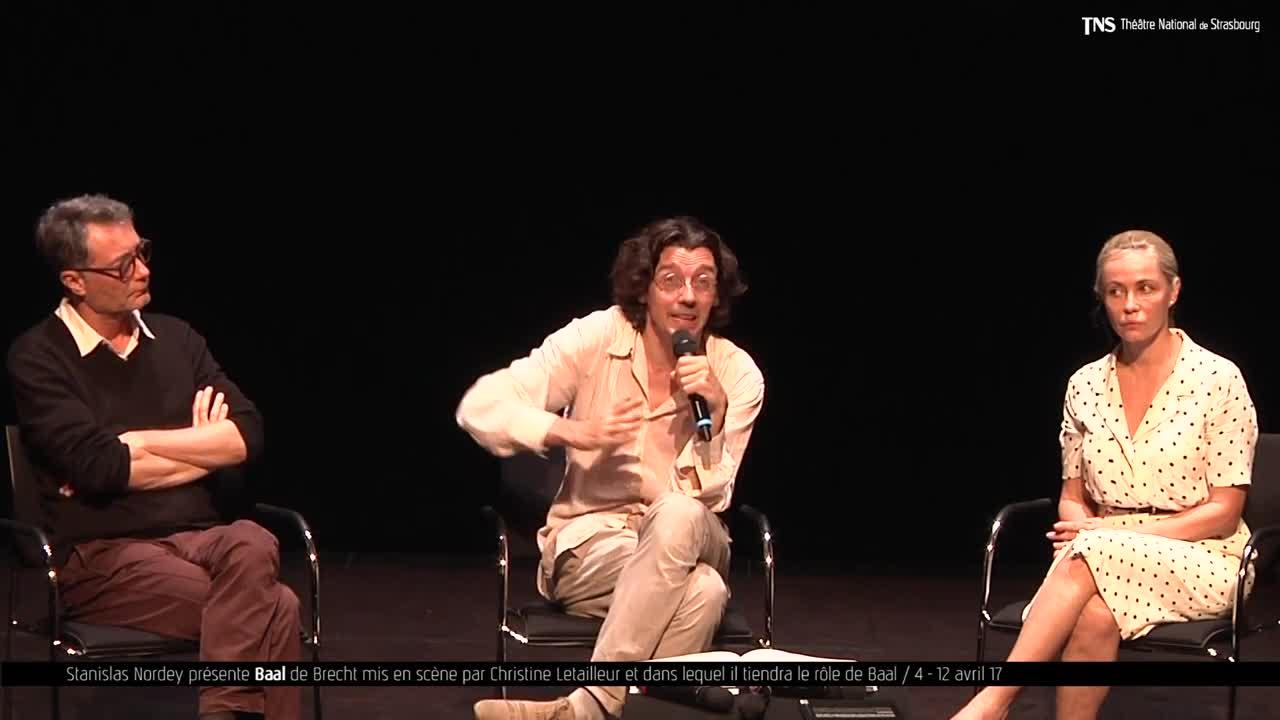 """Vidéo """"Baal"""" présentation par S. Nordey"""