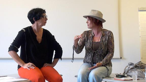 """Image du spectacle """"La dispute"""", conversation à la 24e Mousson d'été avec N. Fillion et P. Henry"""
