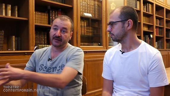 """Vidéo """"La Traversée"""" présentation par J. M. Miró et L. Gallardo"""