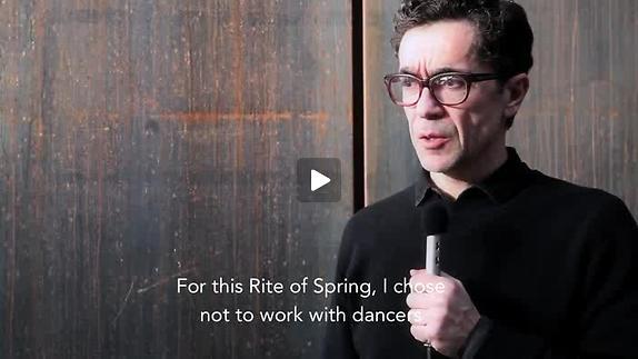 """Vidéo Romeo Castellucci pour """"Le Sacre du Printemps"""""""