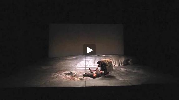 "Vidéo ""Les Gens"" de E. Bond, m.e.s. A. Françon, extraits"