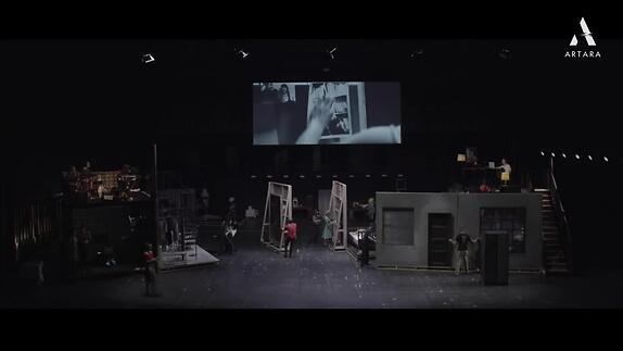 """Vidéo """"Sylvia"""", d'après l'oeuvre et la vie de Sylvia Plath, m.e.s. Fabrice Murgia"""