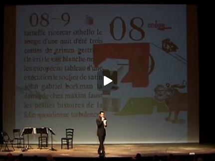 "Vidéo Présentation du ""Cycle Howard Barker"" par Olivier Py"