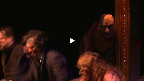 """Vidéo """"Frankenstein"""" de F. Melquiot, m.e.s. P. Desveaux, travail avec la marionnette"""