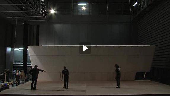 """Vidéo """"Clôture de l'amour"""" de Pascal Rambert, Prémontage du décor"""