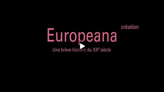 """Vidéo """"Europeana""""de Patrik Ourednik, m.e.s. Virginie Thirion - Présentation"""