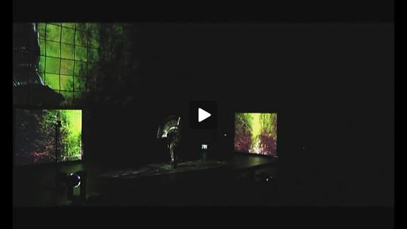 """Vidéo """"Sang & Roses"""", de Guy Cassiers, en répétition dans la Cour d'honneur"""