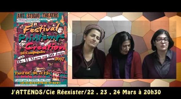 """Vidéo """"J'attends"""" / Cie Réexister - Festival Printemps de la Création"""