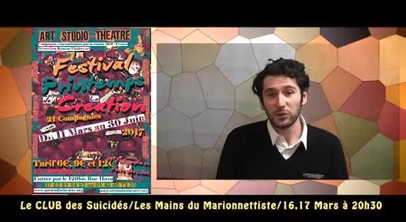 """Vidéo """"Le club des Suicidés"""" - Festival Printemps de la Création"""