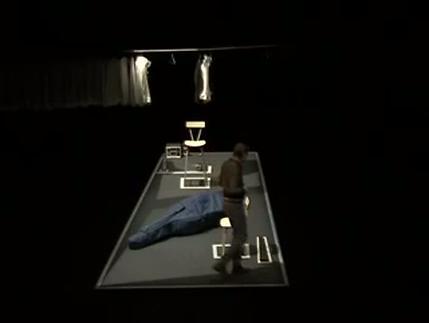 """Vidéo """"La Contrebasse"""" de P. Süskind, m.e.s. de N. Rudolf, extraits"""