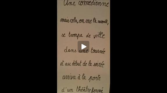 """Vidéo """"Music-hall"""", m.e.s. L.-J. Corti, S. Douret, A. Saubost, bande-annonce"""