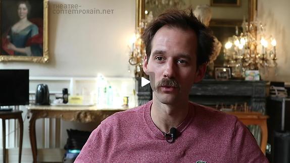 """Vidéo Benjamin Lavernhe, """"Scapin"""", le rapport à la scénographie"""
