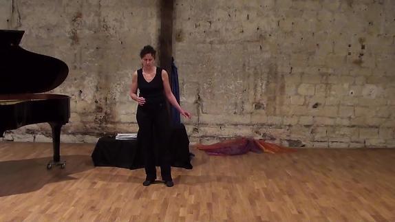 Vidéo Schubert : Waldesnacht, répétition - par D. Hoff, mezzo-soprano-comédienne