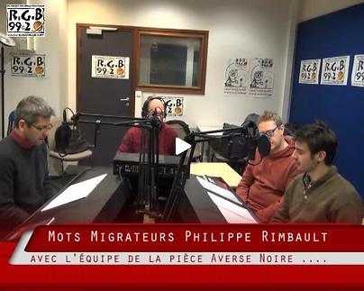 """Vidéo """"Averse noire"""" - Entretien radiophonique / Les Mots Migrateurs"""