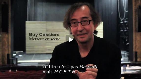 """Vidéo """"MCBTH"""", adaptation et m.e.s. de Guy Cassiers, présentation"""