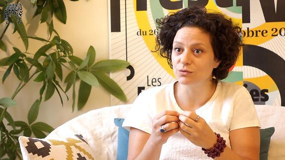 """Image du spectacle Hala Moughanie pour """"La Mer est ma nation"""" (L'Imparfait du Présent)"""