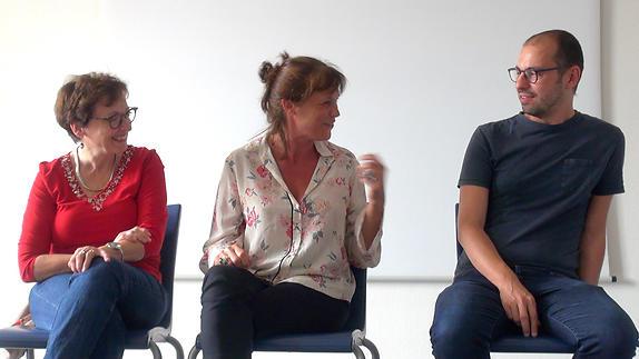 """Image du spectacle """"L'exercice de traduction"""", conversation à la 24e Mousson d'été"""