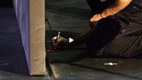 """Vidéo """"Liquidation"""" Kertész/Brochen : aux abords de la salle de répétition"""