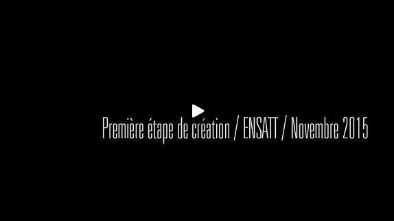 """Vidéo """"Les Ours"""", m.e.s. Julie Guichard / Première étape de création"""