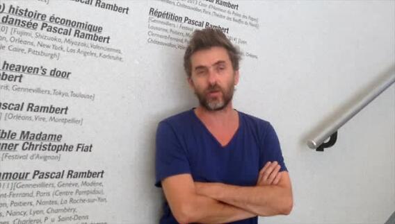 """Vidéo """"Argument"""" et """"De mes propres mains"""" par Pascal Rambert, entretien"""