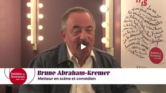 """Vidéo """"La Vie est une géniale improvisation"""" - Entretien avec Bruno Abraham-Kremer"""