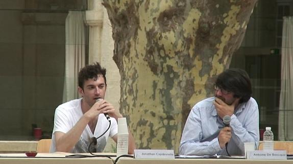 "Vidéo Jonathan Capdevielle pour ""Adischatz / Adieu""."