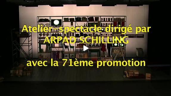 """Vidéo """"Audition Compétition"""", Atelier-spectacle dirigé par Árpád Schilling"""